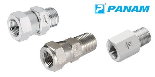 10,000 psi Rated 316 Stainless Steel Adaptors, Panam