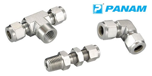 Hydraulic 316 Stainless Steel Twin Ferrule Metric Compression Fittings, Panam