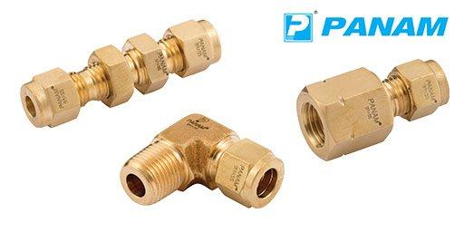 Hydraulic Brass Twin Ferrule Metric Compression Fittings, Panam