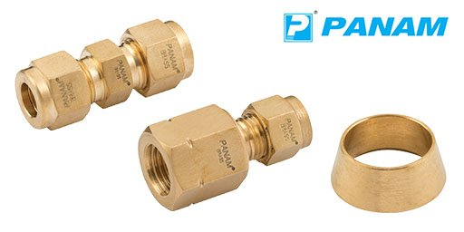 Hydraulic Brass Twin Ferrule Imperial Compression Fittings, Panam