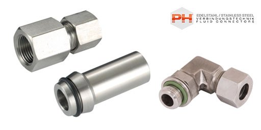 Hydraulic 316 Stainless Steel DIN 2353 Compression Fittings, PH Industrie