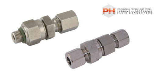Hydraulic 316 Stainless Steel DIN 2353 Compression Valves